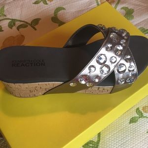 Kenneth Cole Reaction Bling sandals.